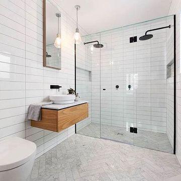 enchapes para baños modernos y sencillos