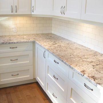 encimeras de granito para cocinas de color blanco