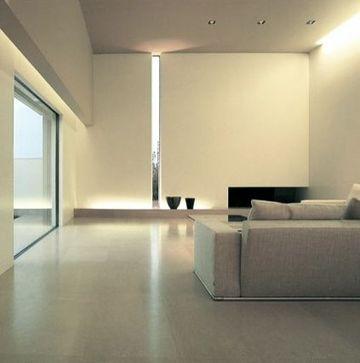 interiores de casas minimalistas de una sola planta