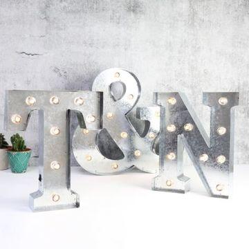 letras 3d con luces para bodas
