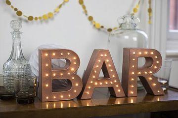 letras 3d con luces para decorar el hogar