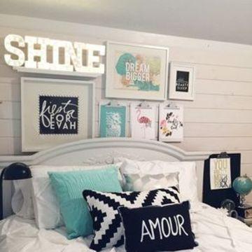 letras para pegar en la pared con luces