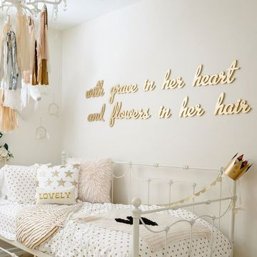 letras para pegar en la pared en dorado