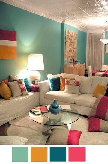 modelos de salas pintadas con combinaciones