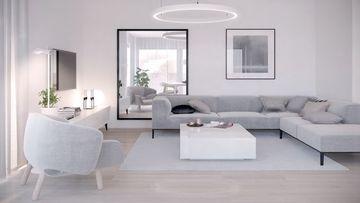 muebles minimalistas para sala en gris