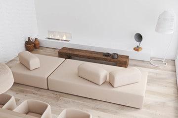 muebles minimalistas para sala pequeña