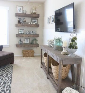 muebles rusticos para sala moderna