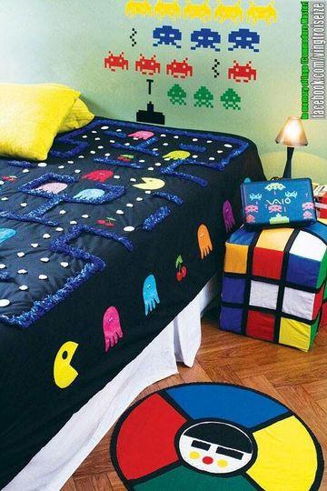 recamaras infantiles para niños con decoracion retro