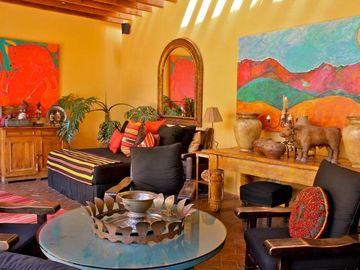 salas rusticas mexicanas muy coloridas