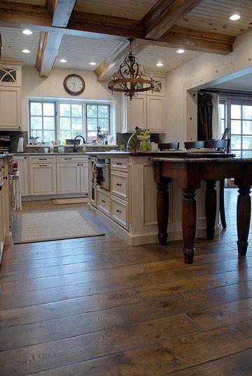 suelos de madera maciza para la cocina