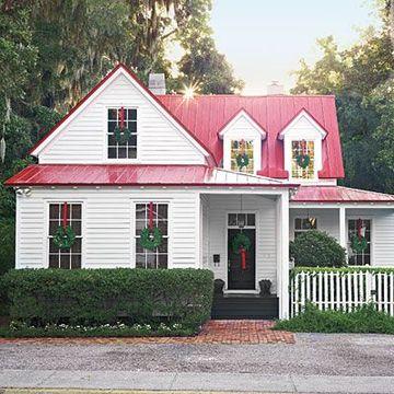 techos metalicos para casas en rojo