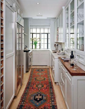 armarios para pasillos estrechos en cocinas
