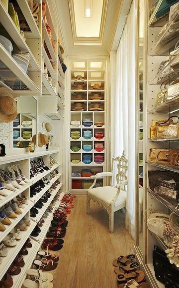 armarios para pasillos estrechos en vestier