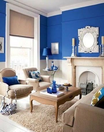 colores azules para cuartos estilo vintage