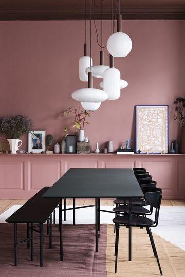 colores rosas para paredes en interiores