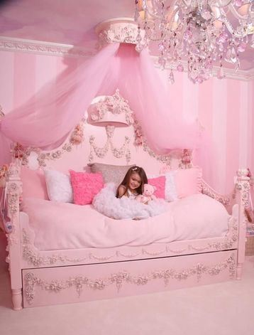 cortinas para habitacion rosa de niña