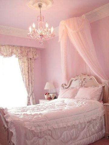 cortinas para habitacion rosa sencilla