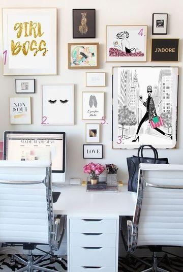 cuadros decorativos para oficina de mujeres