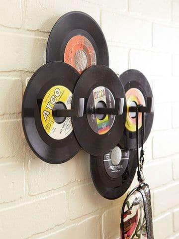 discos vinilos decorativos para perchero de pared