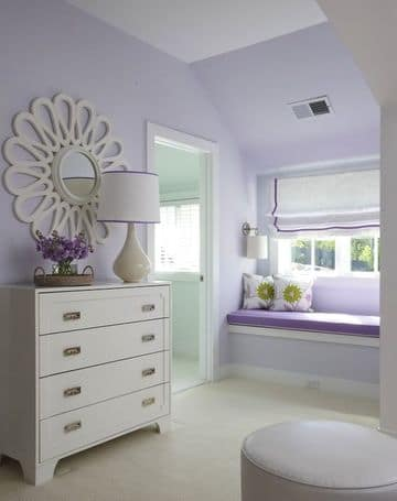 dormitorios de color lila y blanco pequeño