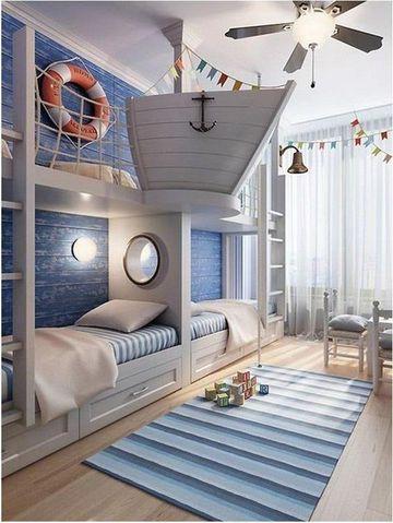 dormitorios infantiles dobles de niños