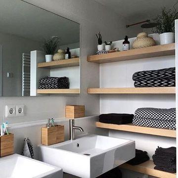 estanterias estilo nordico para el baño