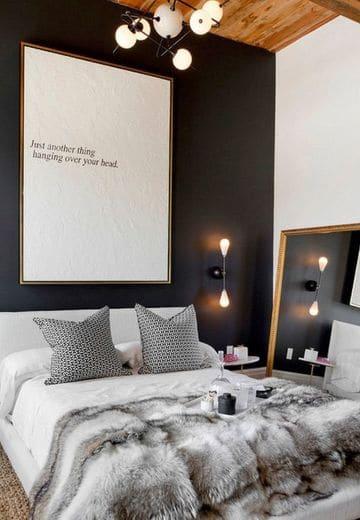 habitaciones blancas y negras con detalles en gris