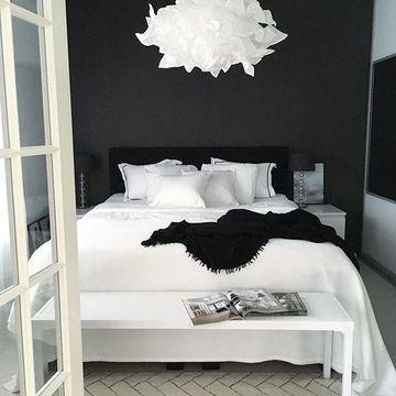 habitaciones blancas y negras minimalistas