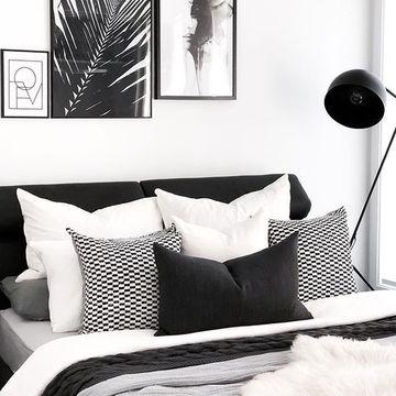 habitaciones blancas y negras sencilla