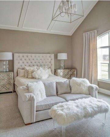 habitaciones color beige con blanco