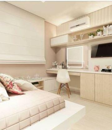 habitaciones color beige pequeña