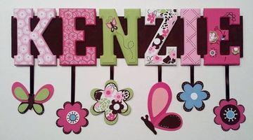 letras para puertas infantiles de niñas