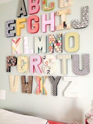 letras vintage para decorar habitacion de niñas