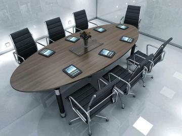 mesas de reuniones para oficinas ovaladas