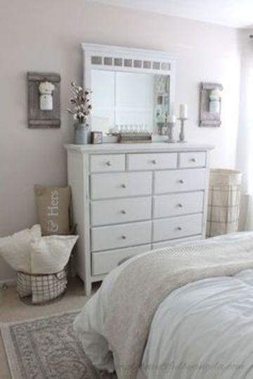 muebles blancos para dormitorio pequeño
