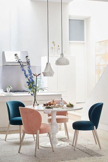 Hermosos diseños de sillas comedor nordicas para decorar