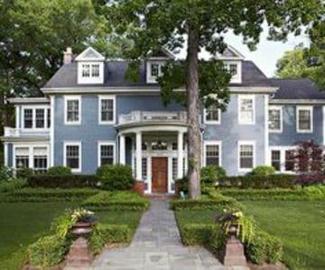 colores coloniales para fachadas de casas tonos azules