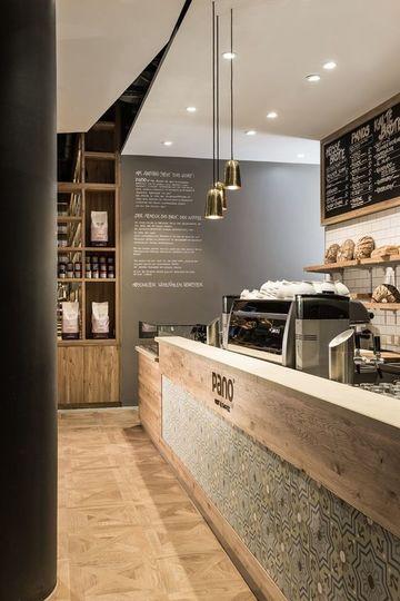 como decorar una cafeteria minimalista
