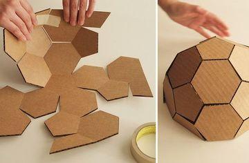 como hacer un domo geodesico de carton
