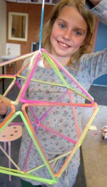 como hacer un domo geodesico para niños