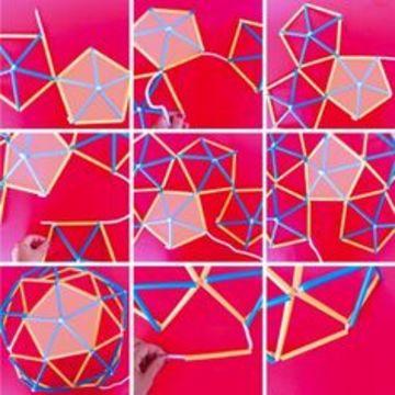 como hacer un domo geodesico paso a paso