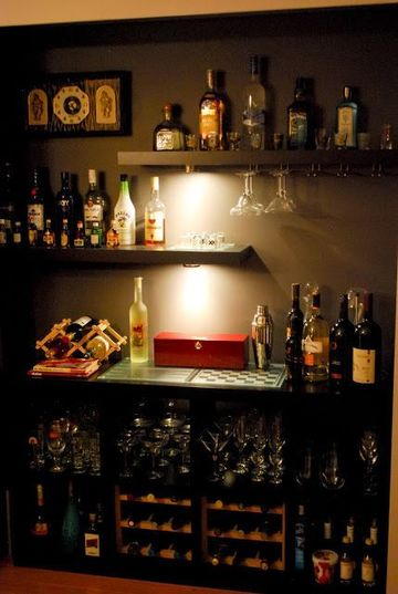 decoracion de bares en casa tradicional