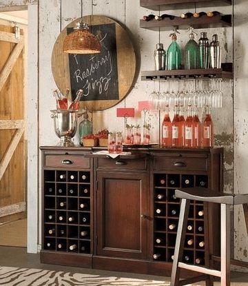 decoracion de bares en casa vintage