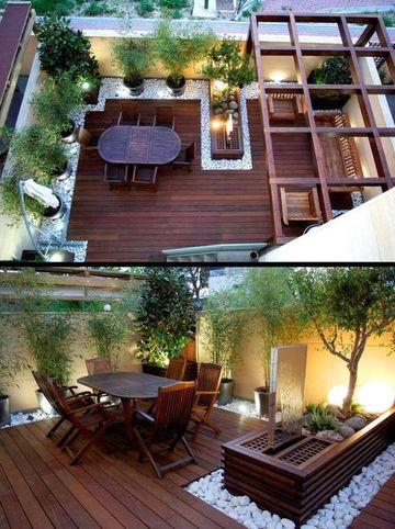 diseños de balcones en madera y terrazas