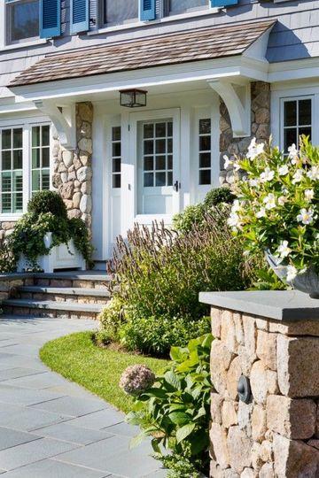 diseños para frentes de casas de piedra