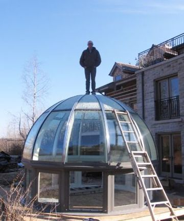 domos para techos de casas de vidrio
