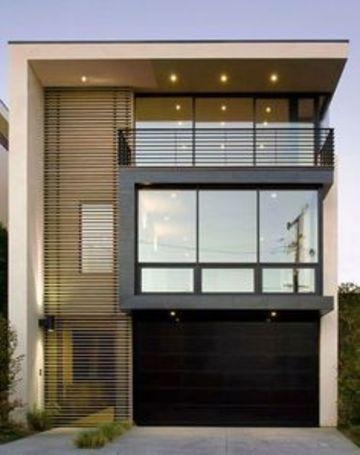 fachadas de casas con ventanales sencillos