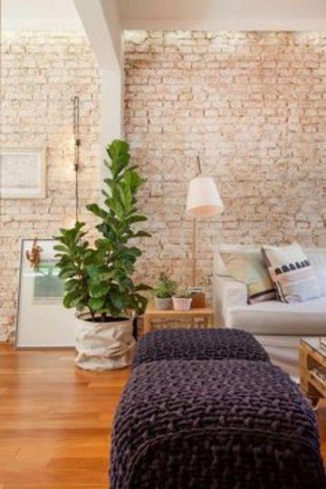 paredes de ladrillo para interiores claras