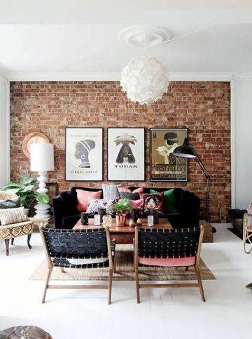 paredes de ladrillo para interiores pequeñas