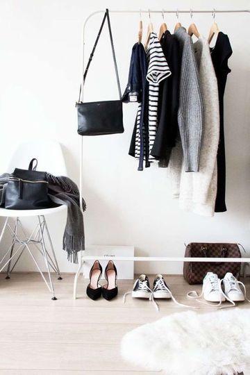percheros de pie para ropa minimalistas